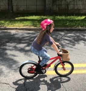 Doug Joiner, girl on bike