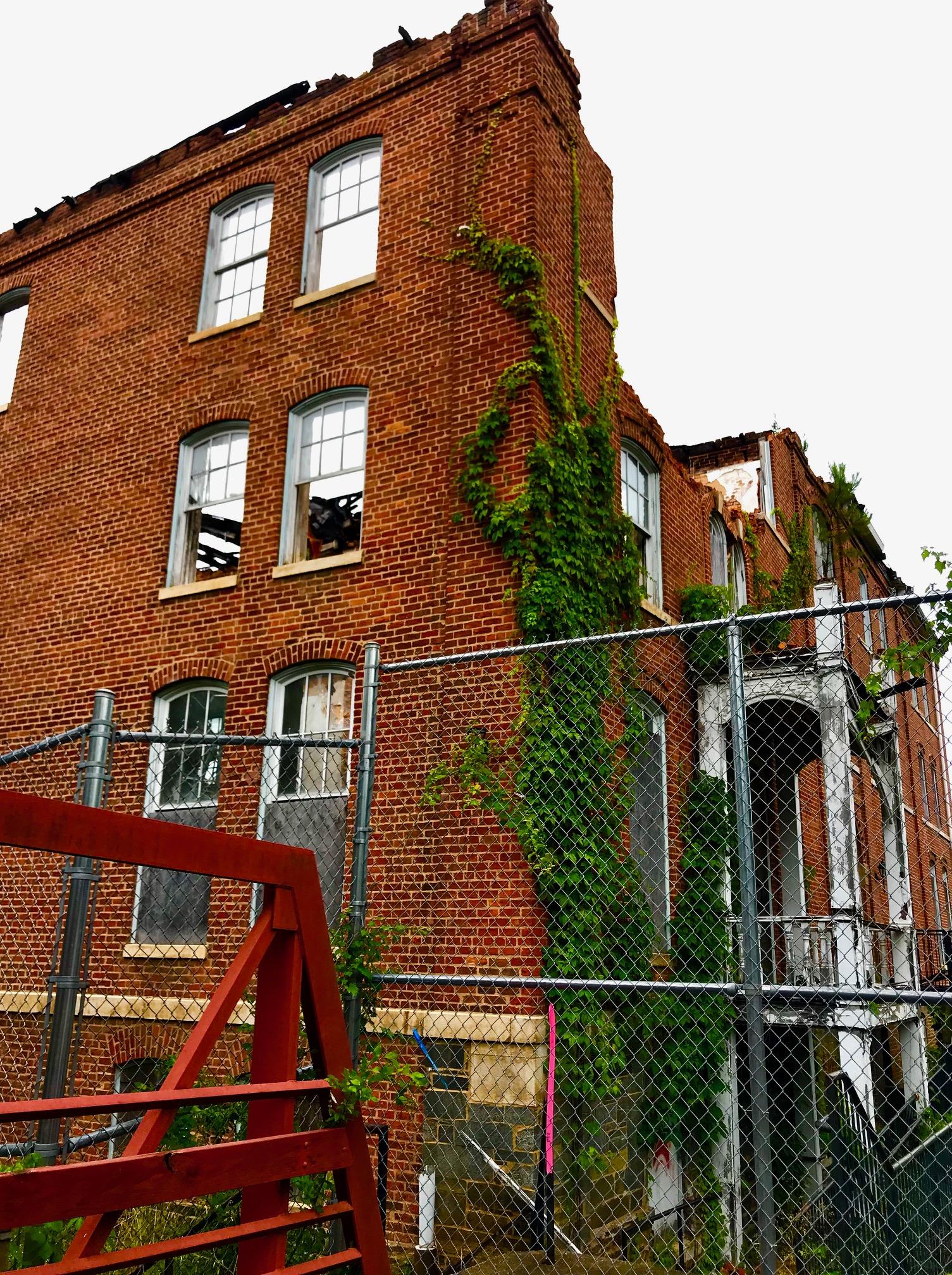 Morris Brown College - Gaines Hall ruin. Photo by Kelly Jordan