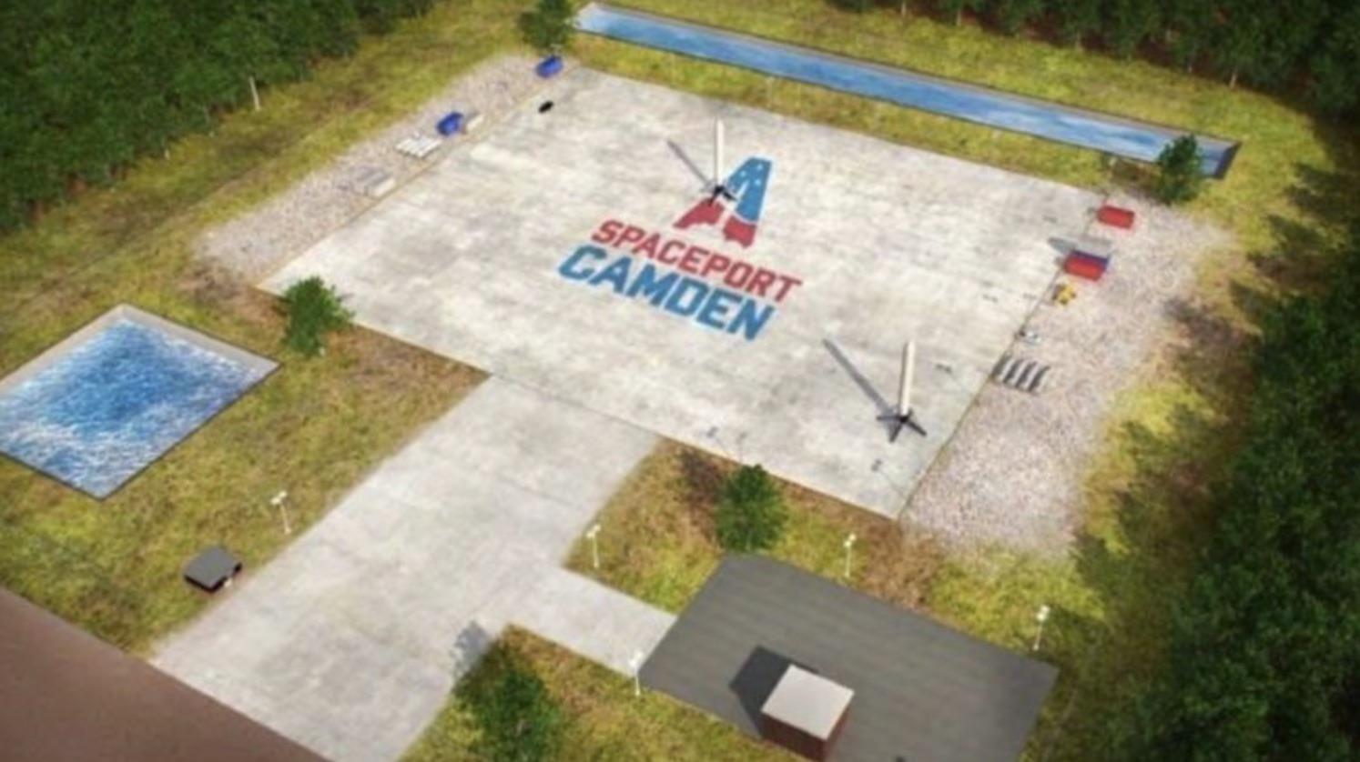 spaceport camden, aerial