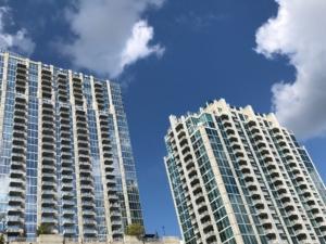 twin condo towers