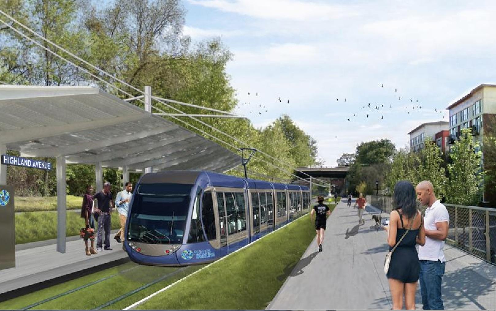 BeltLine transit rendering
