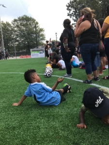 East Point, soccer, gesture