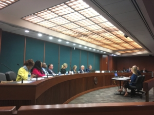 State Senate gambling study committee in a Capitol hearing room