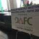 A picture of a sign showing the logo of the Development Authority of Fulton County