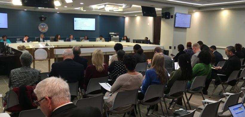 Audience at Atlanta City Council's Finance Executive Committee Jan 17