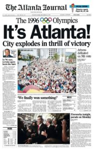 Tom Oder, It's Atlanta!, with column