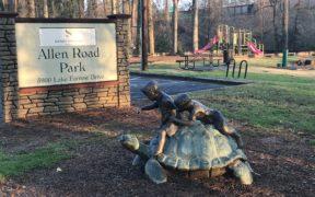 Allen Park, sign, sandy springs