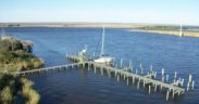 sea level rise, apalachicola docks