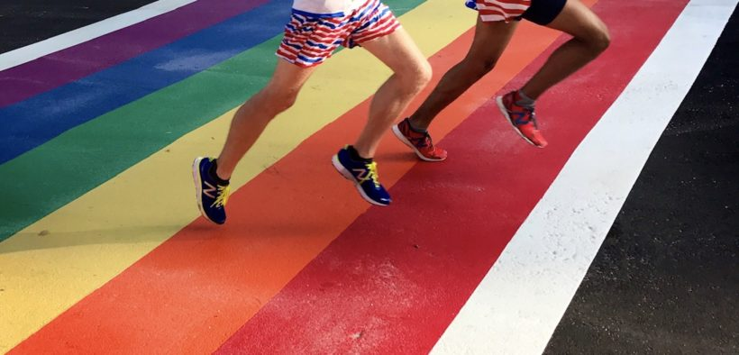 rainbow crosswalk, cropped