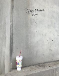Covid, graffiti, One paycheck away