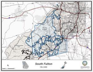 South Fulton, map