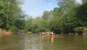 Two kaykers on the South River