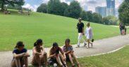 piedmont park, social distance