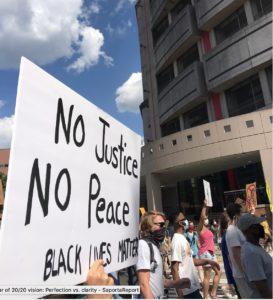 No justice, george floyd, protest, kelly jordan