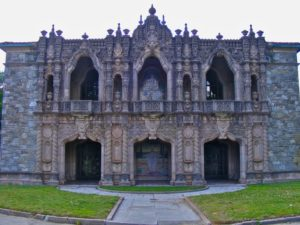 Westview Cemetery abbey front facade