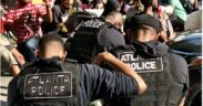 atlanta police take a knee protesters demonstrations