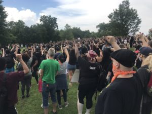 BLM protest June 5 Freedom Park