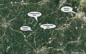quarry, carroll county, map