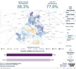 Census tract response Atlanta