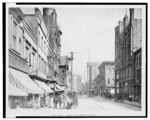 Whitehall Street sometime from 1900-1910. Courtesy: Library of Congress