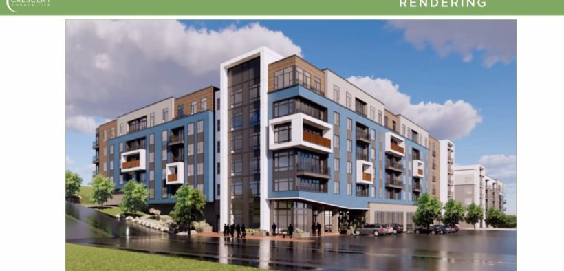 A sketch of Crescent Communities' proposed development at 1330 Fairmont Ave. in Blandtown (Special: slide provided to DAFC)