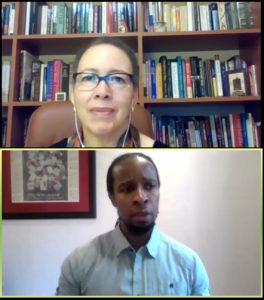 "Beverly Daniel Tatum and Dr. Ibram X. Kendi during the YWCA of Greater Atlanta ""Conversations"" Zoom call"