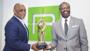 Michael Russell, CEO and Paul Bryant, VP of External Affairs with gBP Champion Award