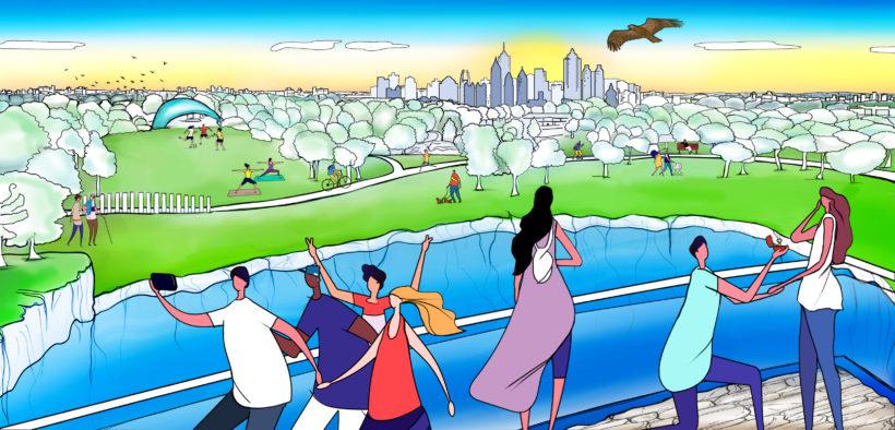 Sundiata Rush, Tomorrow - BeltLine - Westside Park illustration copy