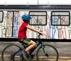MARTA, boy, bike, bus