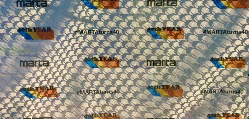 MARTA Public Transit Atlanta 40th Anniversary 2019 logo