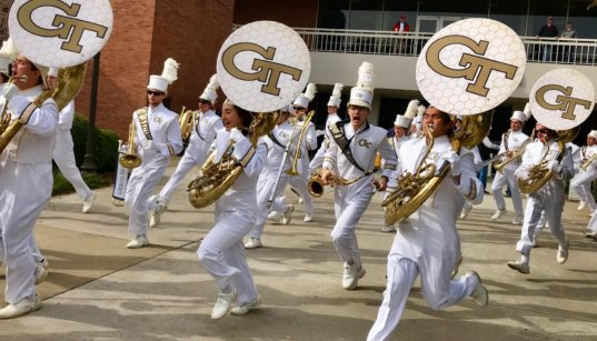 Dawgs Jackets 2017 UGA GA Tech football pregame marching band