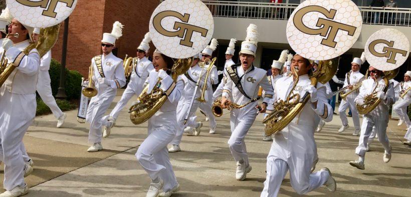 Dawgs Jackets 2017 UGA GA Tech football pregame marching band