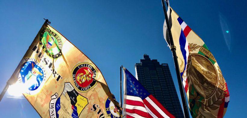 Georgia Veterans Day Parade 2019 flags