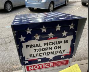 File photo: a ballot drop box