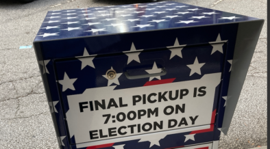 File photo: a ballot drop box