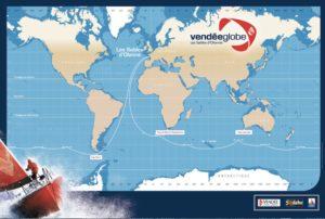 vendee globe, 2020, map