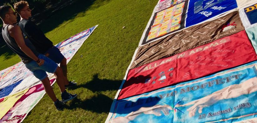 AIDS Memorial Quilt on display in Piedmont Park, Oct. 13, 2018. File/Credit: Kelly Jordan