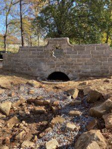 Grant Park Lion Bridge after restoration — landscaping to come in spring. (Special: Grant Park Conservancy)