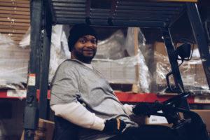 mick cochran, first step warehouse, forklift