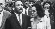 Martin Luther King Jr and Coretta Scott King lead a march in Atlanta in an undated photo (Credit: Thomas Hawk via GPA archive)