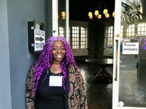 Quay Edwards at the Park Tavern precinct in Midtown (Photo by Maria Saporta)