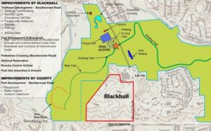 A slide from a DeKalb presentation shows the would-be Michelle Obama Park linked to Gresham Park.