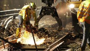 marta rail repair, sparks