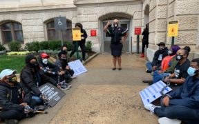 voter supression Atlanta Capitol Georgia protest rally demonstration