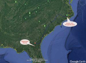 phosphate, titanium locator map