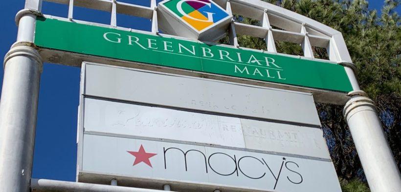 Greenbriar Mall 2021 signage exterior