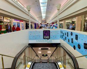 Greenbriar Mall 2021 escalator sign anniversary