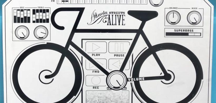 Streets Alive Atlanta 2018 bicycle sign
