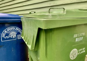 Atlanta trash cans, edit