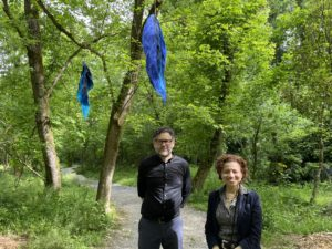 Steven L Anderson and Melody Harclerode at Floating Wild and Free Toward Home by Sachi Rome
